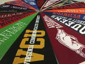 Pinwheel of College Pennants
