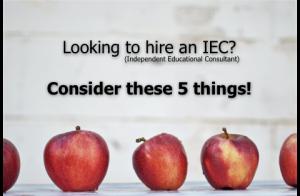 Hiring an IEC