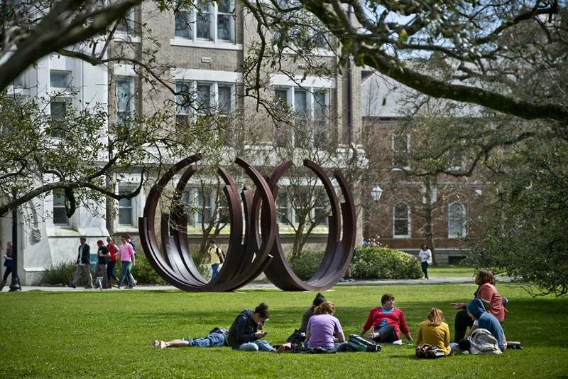 Students on Campus Quad