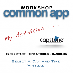Common App Workshop Virtual