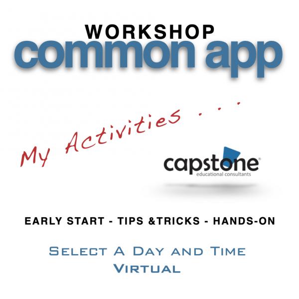 Common App Workshop Virtual