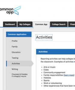 Common App Corner